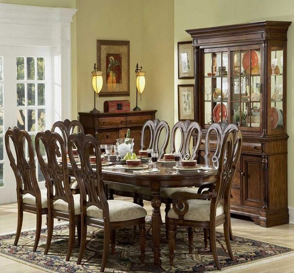 wooden work dining room