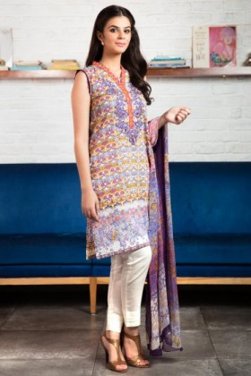 Winter Cambric Kurtis By Zeen 2015-16
