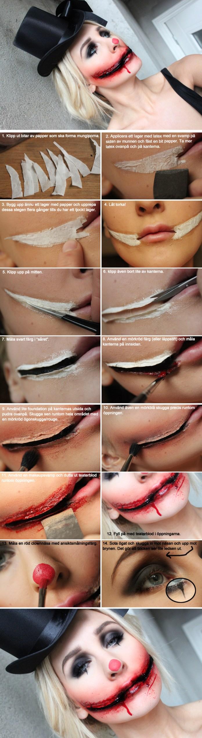 face cut halloween makeup