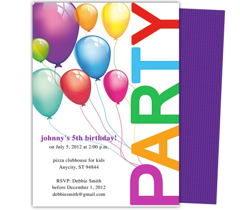 Kids Birthday Party Invitation Card Ideas For Your Child Special Day