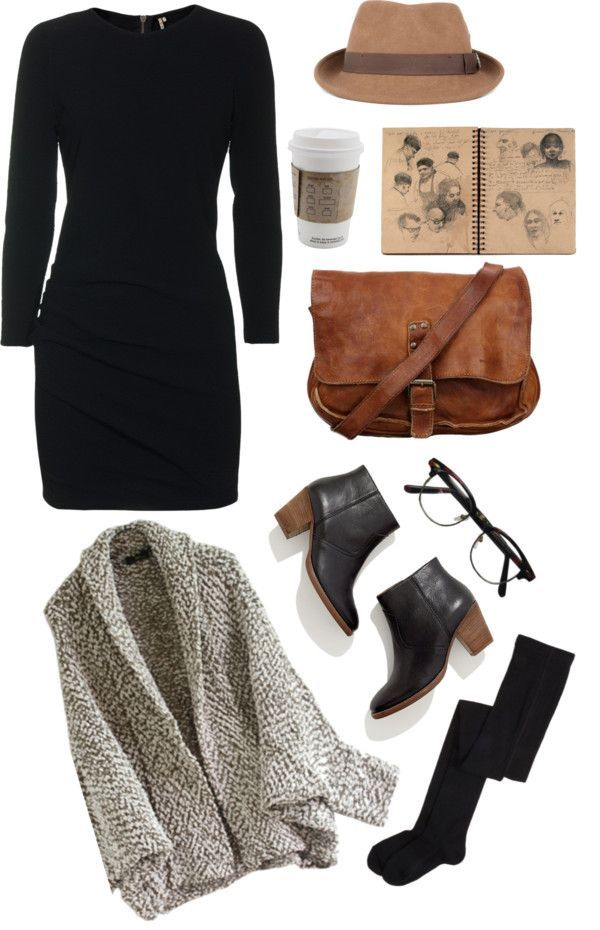 warm polyvore combos