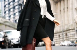 Black Coat Trend In Winter Season For The Fashion Loving Women