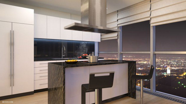 penthouse kitchen idea