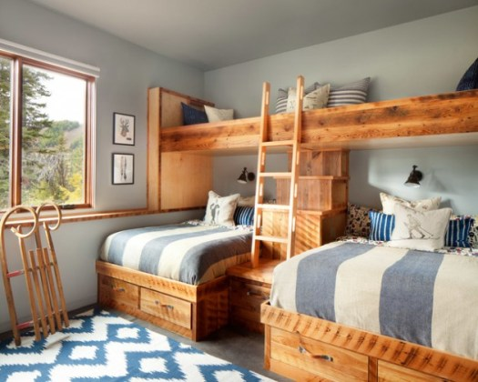 Kids rustic bedroom
