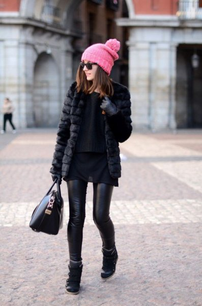 faux fur coat for winter