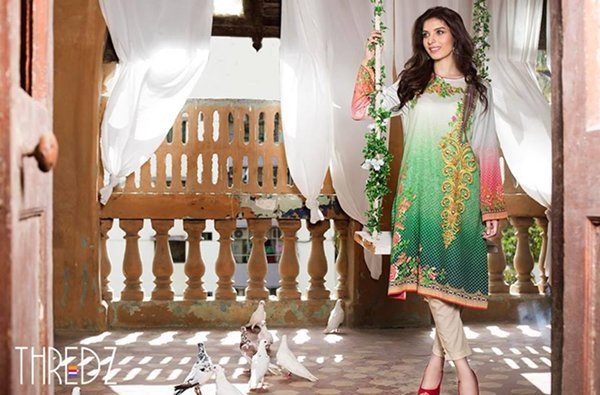 Winter Embroidered Dresses By Thredz 2015-16