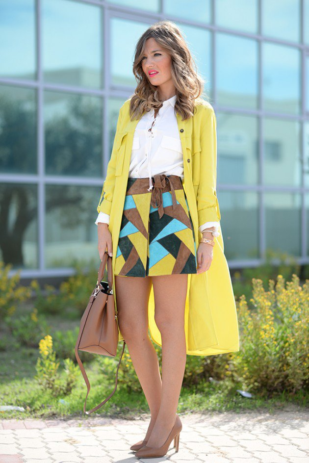 Patchwork Clothing Trend In Winter Women Outfits