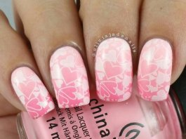 Rose Colored Nail Designs To Have On Events