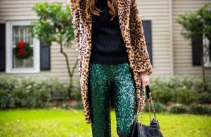 Sequin Winter Clothing Items Women Holiday Season Outfits