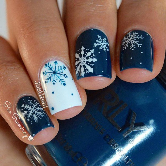 Snowflake nail designs to look for this season snowflake prinsesfo Image collections