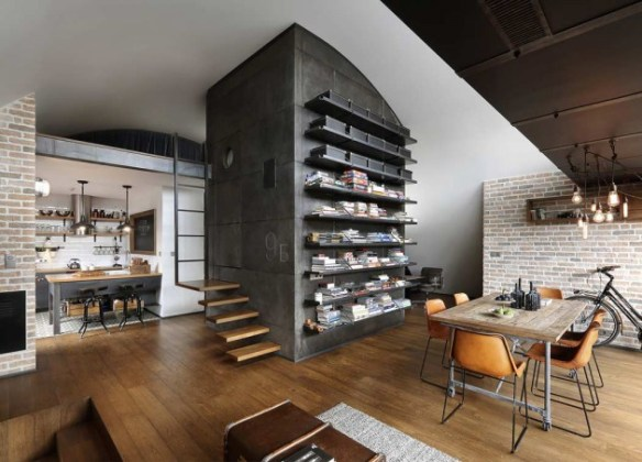 Industrial interior home design