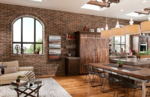 Dining room industrial interior designs