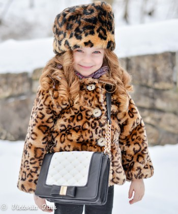 Leopard Print Dress For Kids In The Cold Days