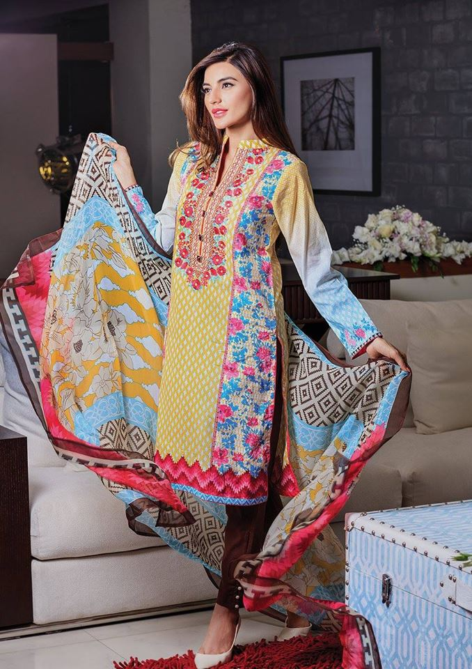 Alkaram 3 piece embroidered chiffon dresses