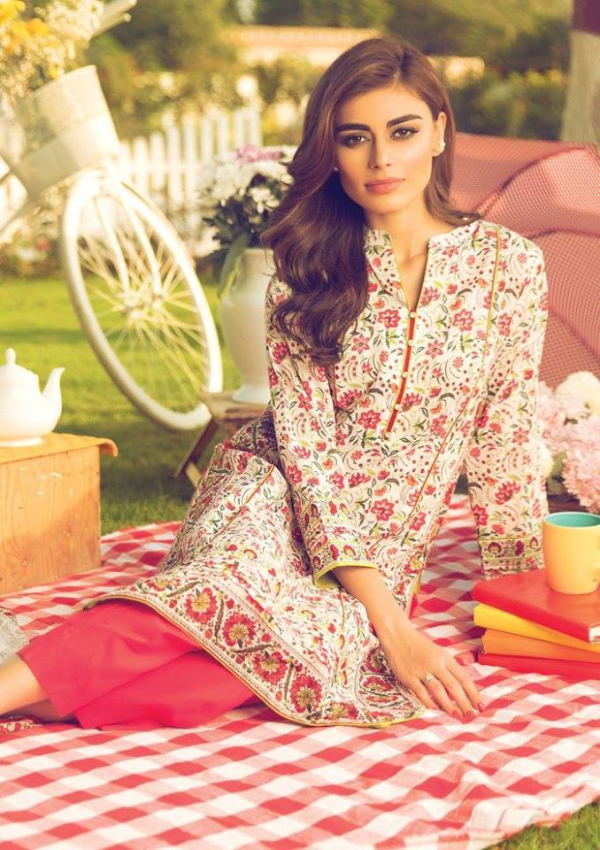 Alkaram Spring Season Printed Lawn Collection 2016
