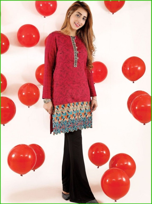 Beech Tree Valentines Day kurtis