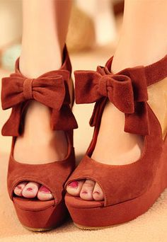 Bowknot high heel shoes