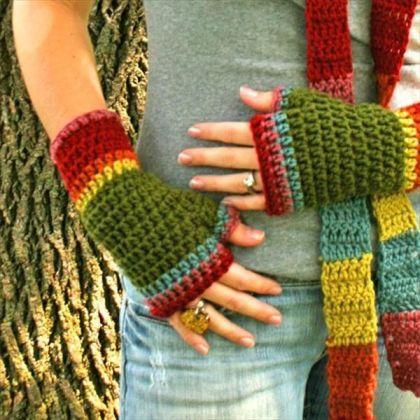 Crochet Pattern fingerless gloves