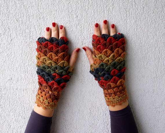 Crochet Pattern Fingerless Gloves Spring Fashion 2016