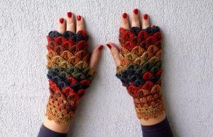 Crochet Pattern Fingerless Gloves Spring Fashion 2016