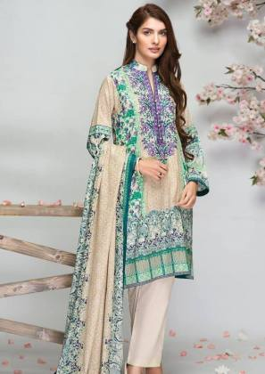 Embroidered lawn spring Alkaram collection
