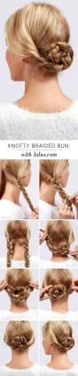 Messy low bun hair tutorials