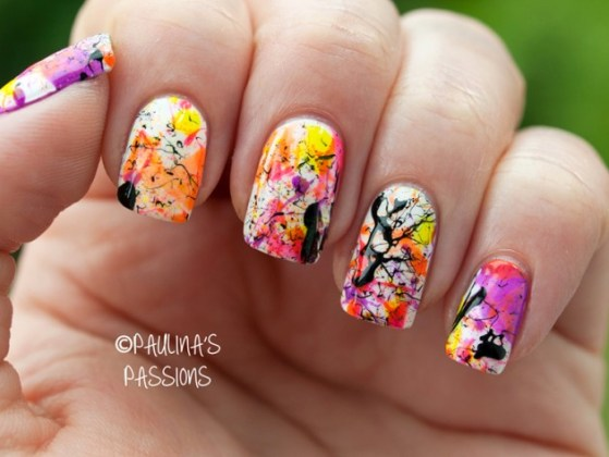 Splatter Nail Designs For Spring Summer Season