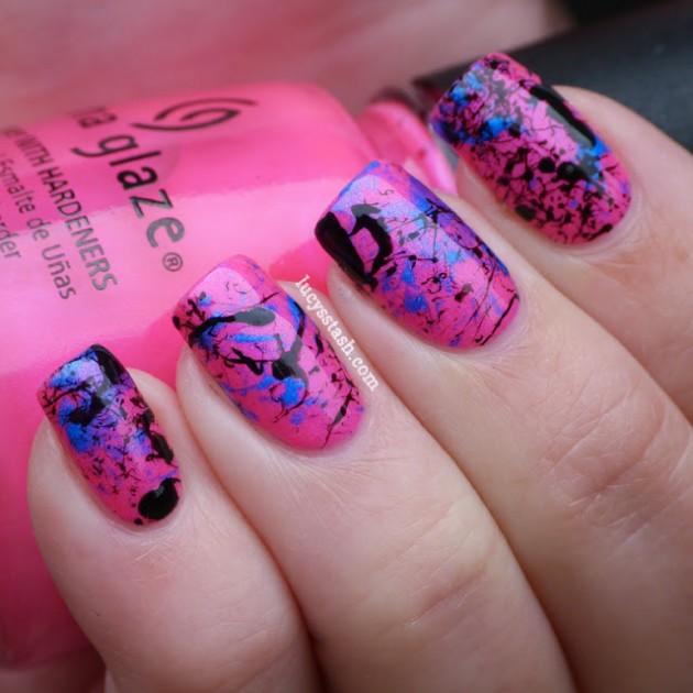 Splatter Nail Designs For Spring Summer Season