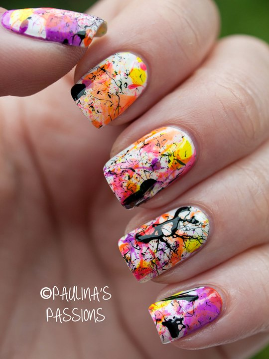 Splatter Nail Designs