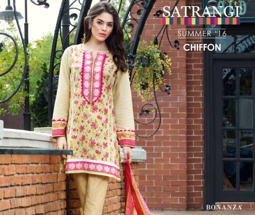 Bonanza Satrangi Chiffon Summer Collection 2016