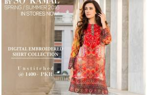Digital Embroidered 1 Piece Shirt Collection 2016