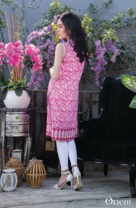 Embroidered Pastels Orient Textiles Summer Kurtis 2016
