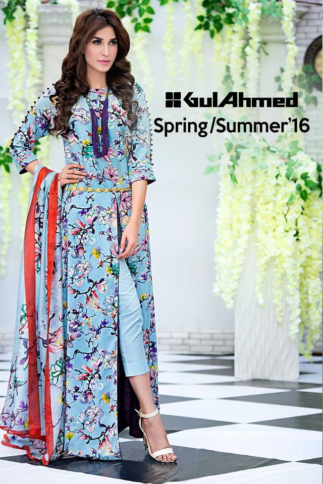 Gul Ahmed Soya Silk Collection Spring/Summer 2016