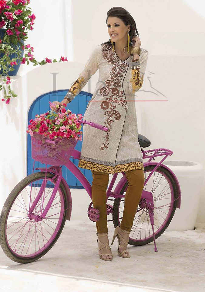 Mashal Embroidered Summer Kurti Collection 2016