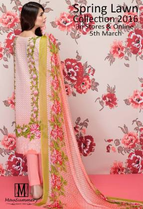 Mausummery 3 Piece Spring Lawn Collection 2016