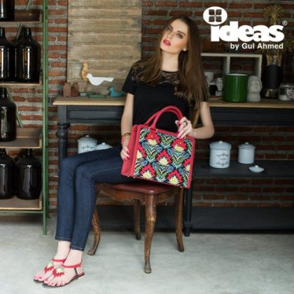 Gul Ahmed Handbags Shoes Ideas Collection 2016