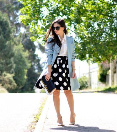 Polka Dot Outfits For Summer Casual Wearing