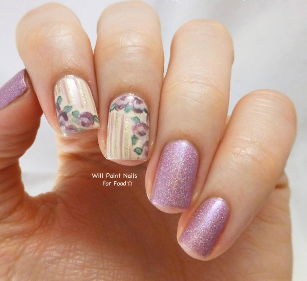 Amazing Striped Nail Desings