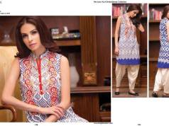 Net Lawn Embroidered Kurti Collection