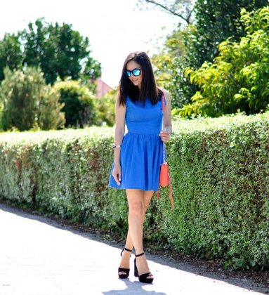 Royal Blue Skirt Outfits
