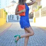 Royal Blue Skirts Outfits