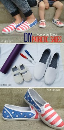 DIY 4th Of July Shoes