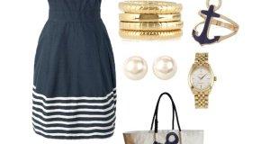 Nautical Pattern Polyvore Dresses