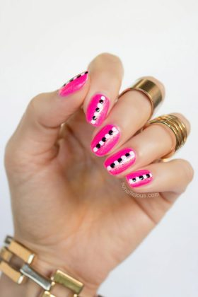 Pink Nail Designs For Summer End and Autumn Season