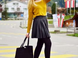 Black Tights Trend During The Winter Season 2016-17