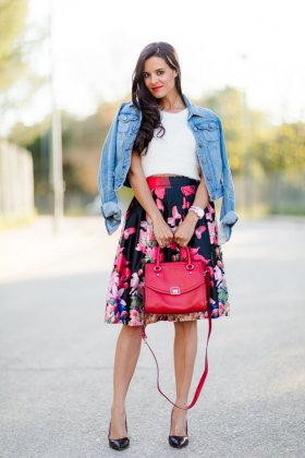 Floral Midi Skirts Summer Essential Clothing Ideas
