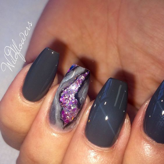 Geode nail designs new trend for summer 2017 prinsesfo Image collections