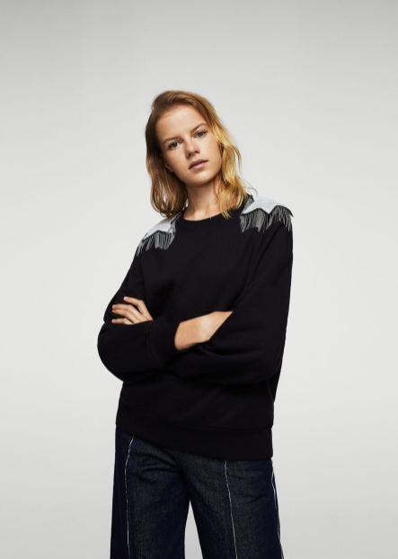 Mango Embellished Sweatshirt