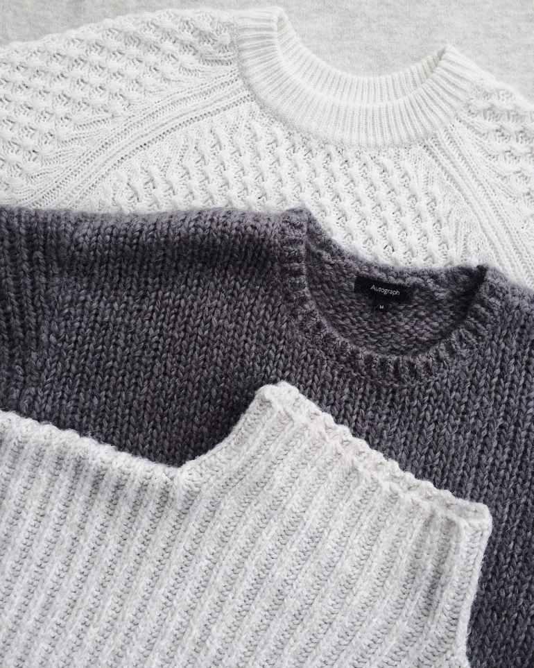 close up photo of three sweatshirts