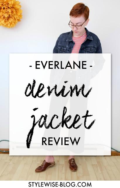 everlane denim jacket in washed black review stylewise-blog.com